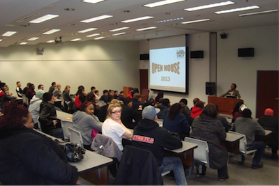 students guests pack the house to learn about the crcp